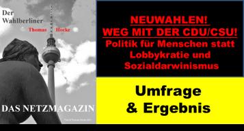 2018-09-23 Umfrage 6 Ergebnis weg mit der CDU