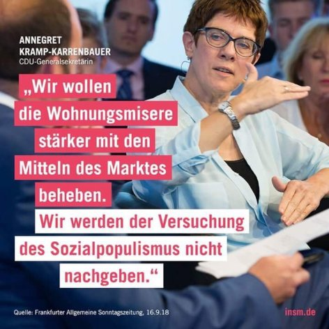2019-03-06 Annegret Kramp-Karrenbauer Sozialpopulismus der Mieterinnen