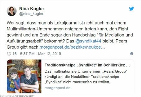 2019-03-12 Nina Kugler von der Morgenpost - Retterin des Syndikats