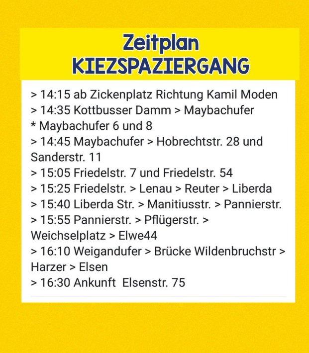 2019-03-24 Ablauf Kiezspaziergang heute
