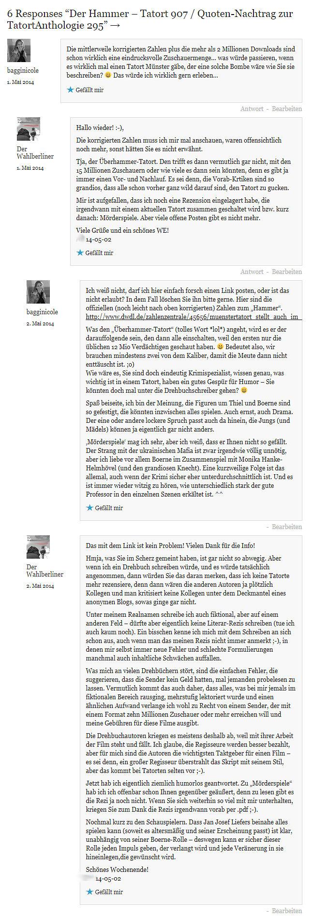 2019-03-28 Tatort 907 Der Hammer Kommentare Nachtrag zur Altrezension üa