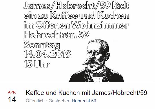 2019-04-14 Auftakt Kaffee und Kuchen mit James Hobrecht