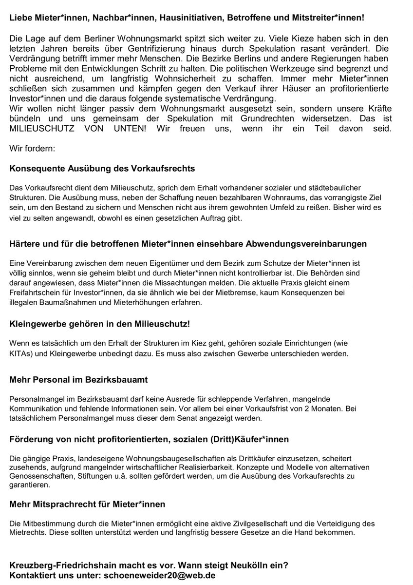 2019-05-22 Demo Milieuschutz von unten gegen Heuschrecken Update