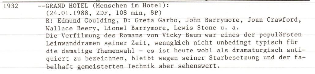 2020-10-10 FF 0105 Menschen im Hotel (Grand Hotel, USA 1932) Text
