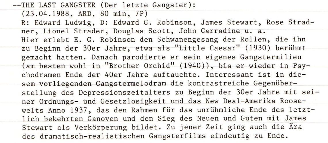 2020-10-25 FF 0148 Der letzte Gangster The Last Gangster USA 1937