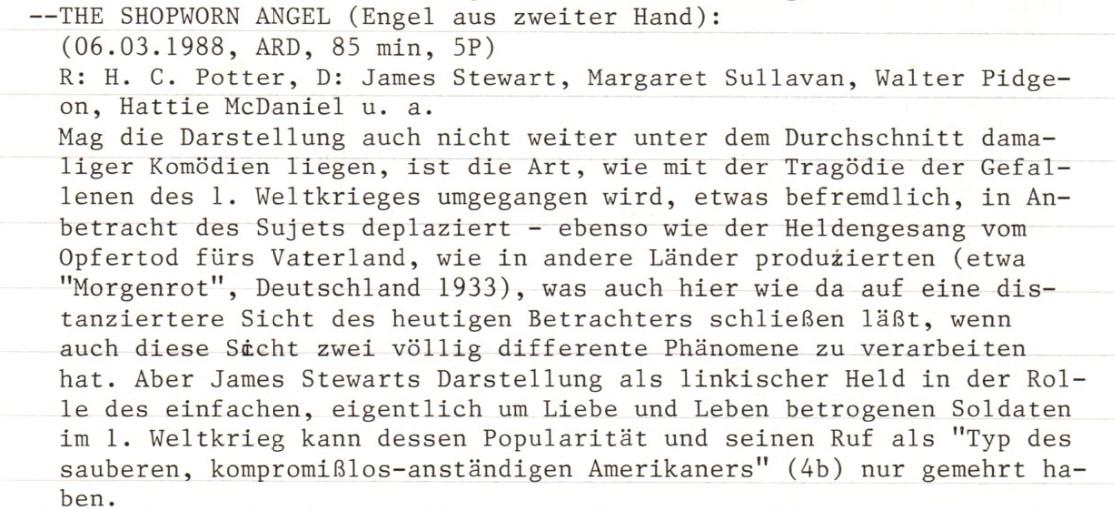 2020-10-27 FF 0158 Engel aus zweiter Hand The Shopworn Angel USA 1938