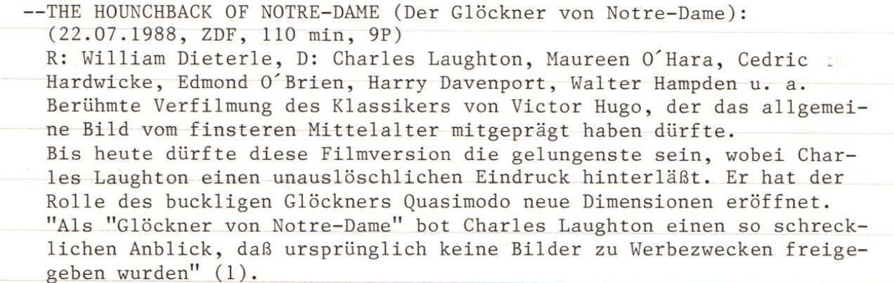 2020-11-01 Der Glöckner von Notre Dame The Hunchbak of Notre Dame USA 1939 Text