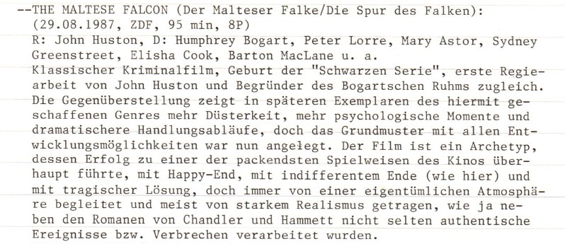 2020-11-12 FF 0197 Die Spur des Falken The Maltese Falcon USA 1941