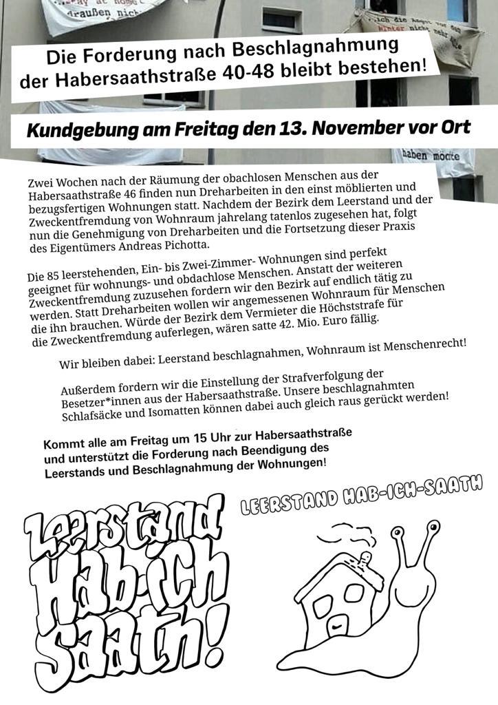 2020-11-13 Demo vor dem Block