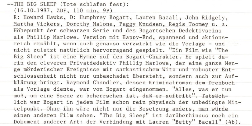 2020-12-02 FF 0259 Tote schlafen fest The Big Sleep USA 1946