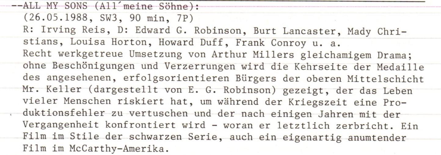 2020-12-12 FF 0291 All my Sons All meine Söhne USA 1948