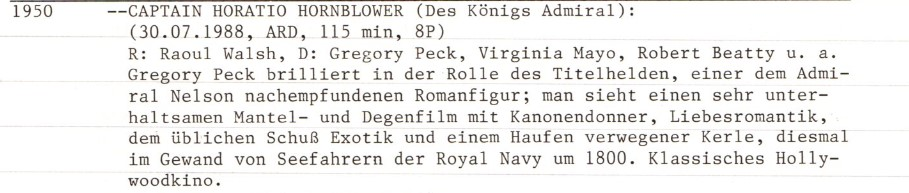 2020-12-18 FF 0312 Des Königs Admiral Captain Horatio Hornblower USA 1950