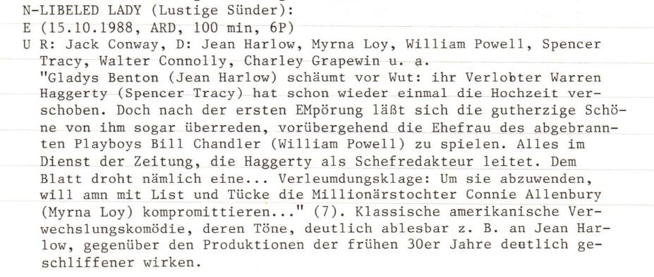 2021-01-07 FF 0336 Lustige Sünder Libeled Lady USA 1936 Text