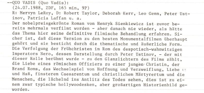 2021-01-09 FF 0090.1 Quo Vadis USA 1951 Text
