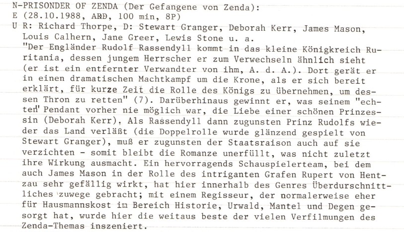 2021-01-15 FF 0349 Der Gefangene von Zenda The Prisoner of Zenda USA 1952