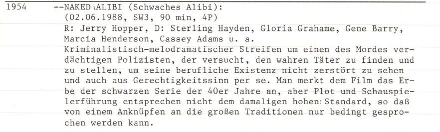 2021-02-10 FF 0367 Schwaches Alibi Naked Alibi USA 1954