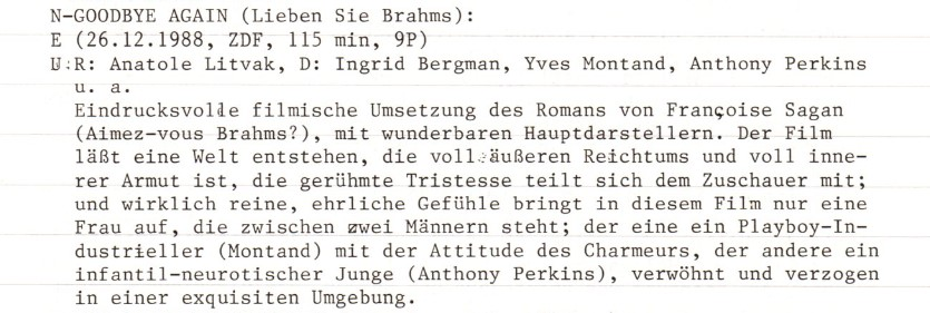 2021-05-07 FF 0466 Lieben Sie Brahms Goodbye Again USA 1961