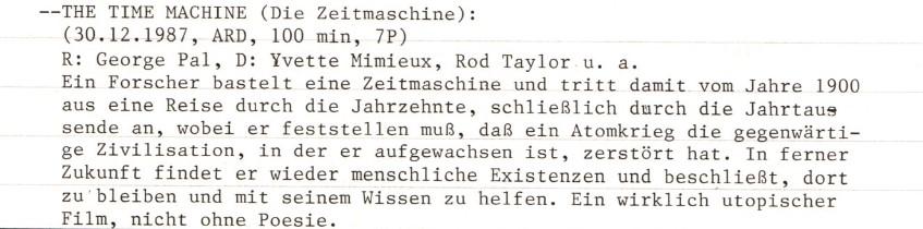2021-05-10 FF 0470 Die Zeitmaschine The Time Machine USA 1960