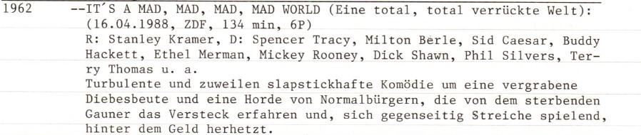 2021-05-24 FF 0483 Eine total, total verrückte Welt It's a mad, mad, mad, mad World USA 1962